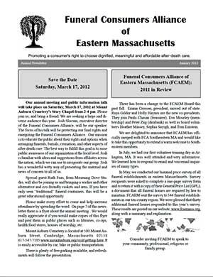 2012 Annual Newsletter