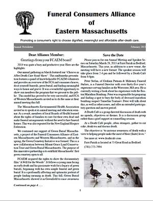 2015 Annual Newsletter