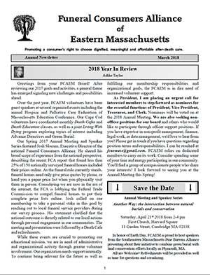 2018 Annual Newsletter